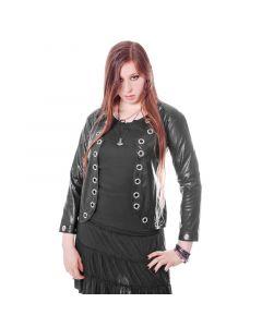 Gothicice Damen Kunstleder Jacke