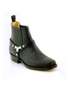Sancho Boots Biker Stiefellette Pul Gras Negro