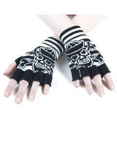 Fingerlose Handschuhe Nautic Skull