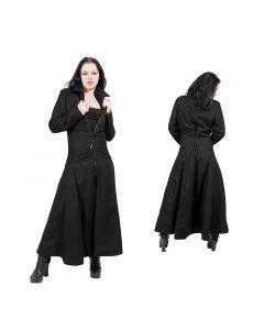 langer Damen Mantel mit Corsettschnürung
