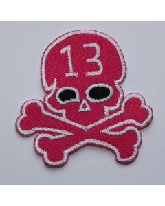 Aufnäher Pink Skull 13