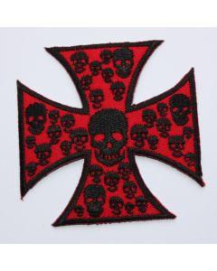 Aufnäher Cross Skull