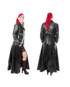 Tribal gothic fetisch Mantel Leder