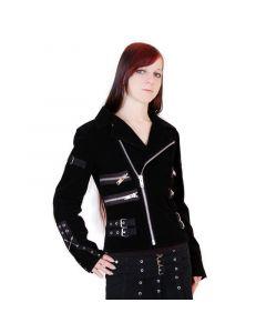 Zipper Jacke 855 Samt