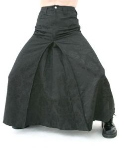 Men Skirt Brokat Black