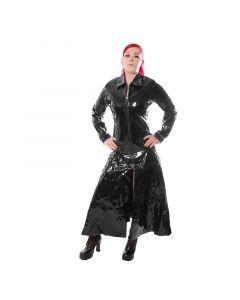 langer Damen Lack Mantel Style No.614