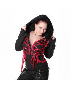 Visual Kay Style Hoodie rot
