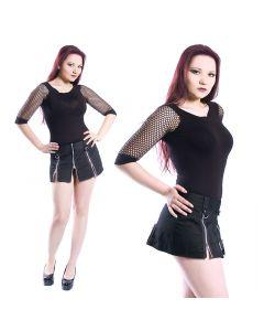Zipper Mini Rock schwarz