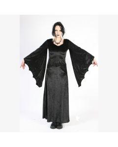 schwarzes langes Samt kleid