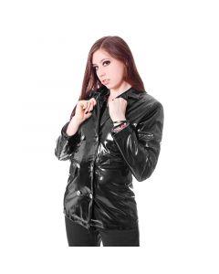 schwarze Lack Jacke