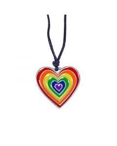 Regenbogen Herz Anhänger
