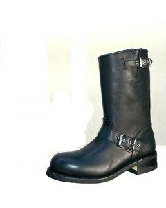 schwarzer Ingeneer- stiefel aus Rindsleder