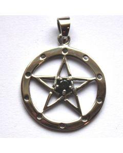 Pentagramm mit schwarzem Stein