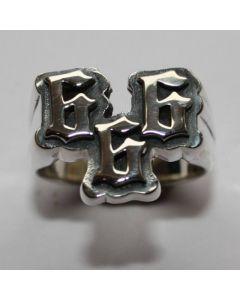 666 Ring in echt 925 Sterling Silber