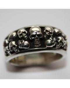 Totenkopf Ring echt 925 Sterling Silber