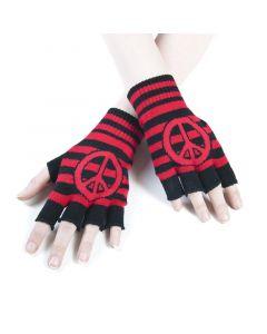 Fingerlose Handschuhe Peace