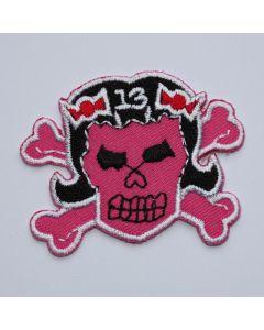 Aufnäher Skull Pink