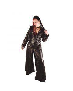 langer Damen Mantel Kunstleder 402