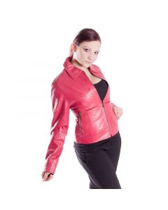 Lederjacke 4011 sheep nappa pink