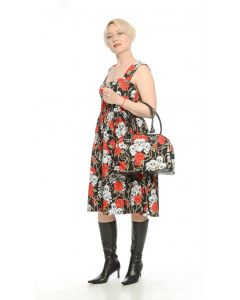 Petticoat Kleid Skulls and Roses black
