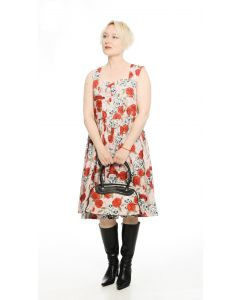 Kleid Skulls and Roses rosa