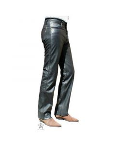 Lederhose nappa Jeansschnitt Lederjeans