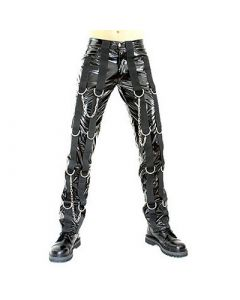 Ring Pants PVC Black
