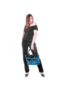 Scottish Checker Bags blue