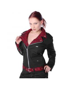 Leo Punk Star Red  Jacke Baumwolle