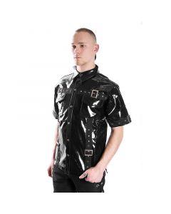 schwarzes Lack hemd