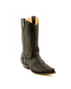 Sancho Boots  Westernstiefel Crazy Rustik Negro