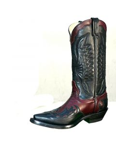 Westernstiefel in black-wine Optik