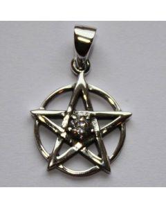 Pentagramm mit weissem Stein