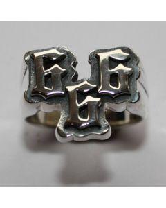 666 Ring in echt 925 Sterling Silber