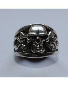 Ring mit Totenkopf echt 925 Sterling Silber