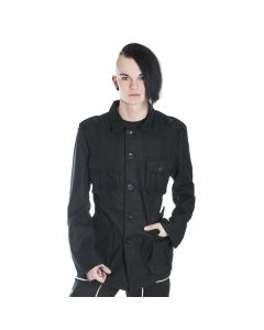 Military Style Jacke Wolle