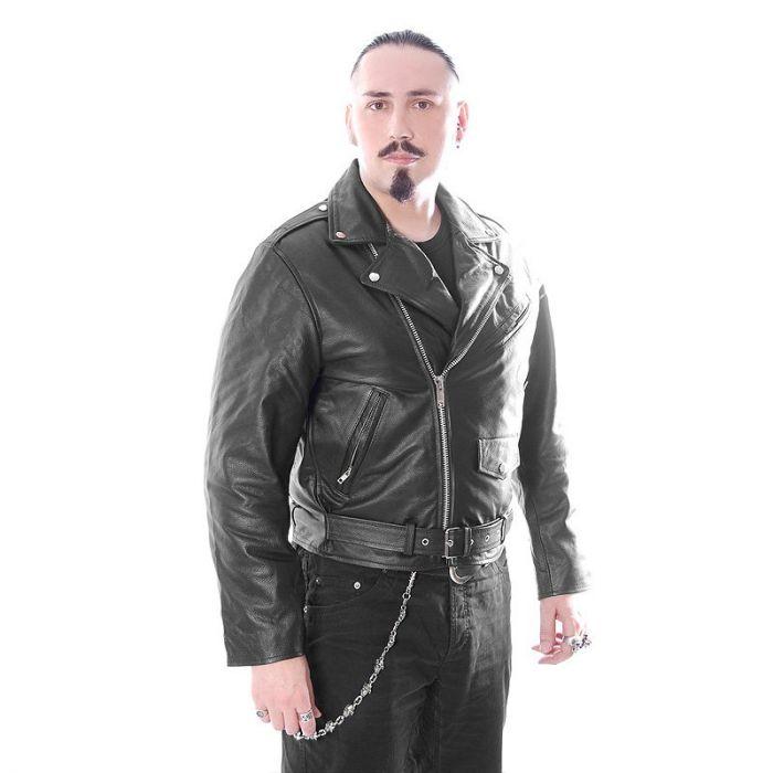 HARD LEATHER STUFF LederBikerjacke Metal Punk Rockabilly